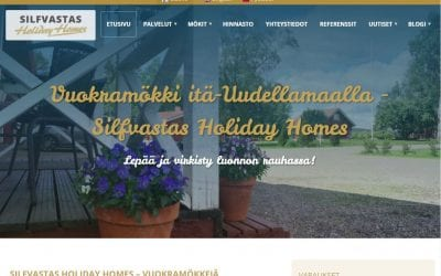 Silfastas Holiday Homes -varauspalvelun asiakkaaksi