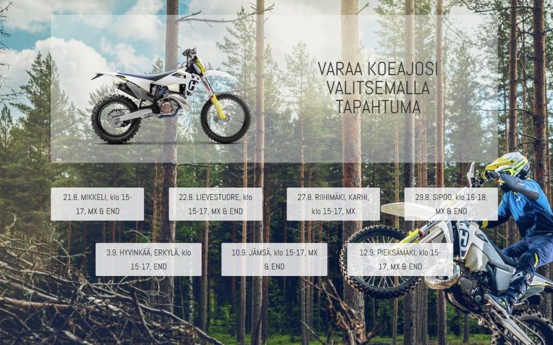 Husqvarna Motorcyclesille pyörien koeajovarausjärjestelmä