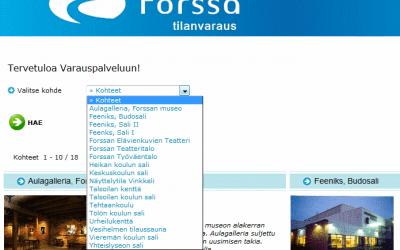 Tilavarausjärjestelmä Forssan kaupungin käyttöön