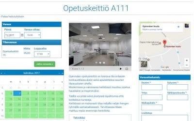 Espoon kaupungin Opinmäen oppimiskeskus siirtyi sähköiseen tilanvaraamiseen